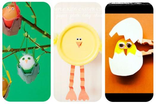 3 manualidades de Pascua ¡pollitos!