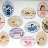 Mini placas artesanales para la habitación infantil