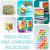 6 tartas de cumpleaños fáciles y llenas de color