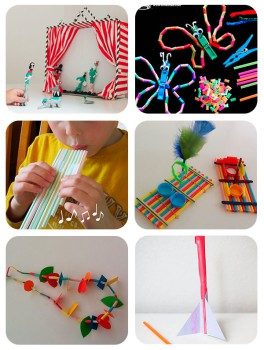 6 manualidades infantiles con pajitas