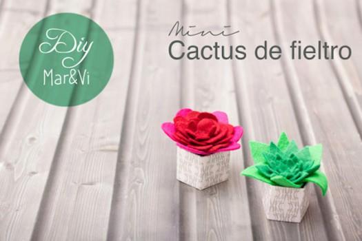 Manualidades con fieltro fáciles: mini cactus
