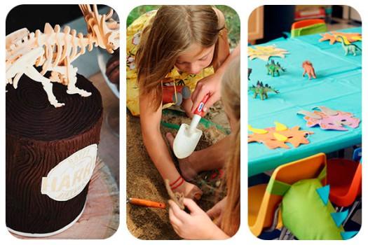 3 fiestas de cumpleaños de dinosaurios