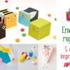 Envolver regalos: 5 cajas imprimibles ¡gratis!