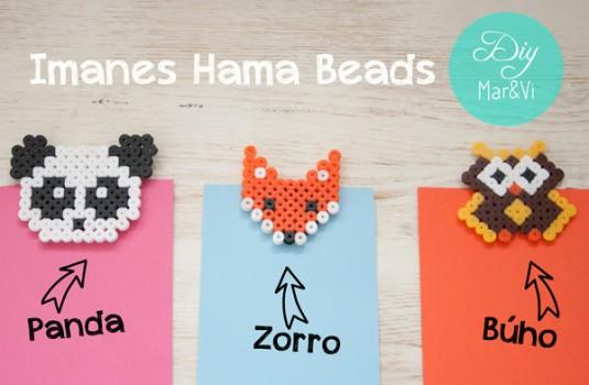 Hama Beads: imanes de animales