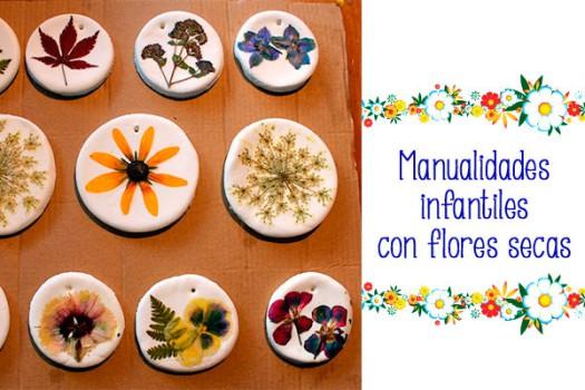 Manualidades infantiles con flores secas