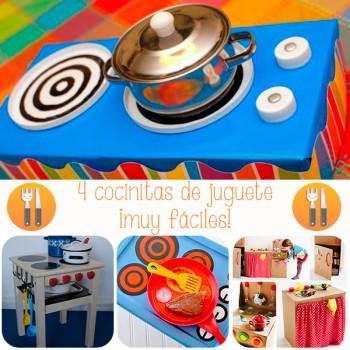 4 cocinitas de juguete ¡muy fáciles!