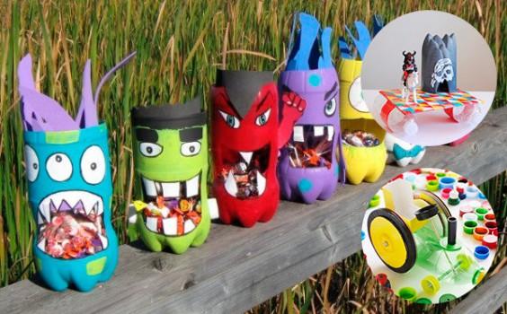 6 manualidades con botellas de plástico ¡divertidas!