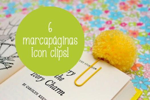 6 marcapáginas ¡con clips!