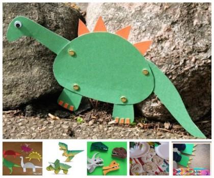 Manualidades originales ¡de dinosaurios!