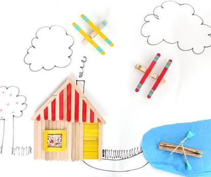 5 manualidades para niños con palitos de helado