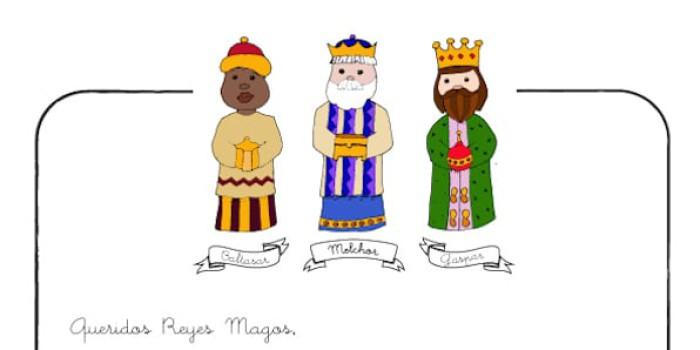 Carta a los Reyes Magos para imprimir gratis