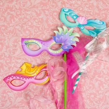 Princesas Disney, ¡7 máscaras de Carnaval recortables!