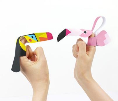 Manualidades infantiles, 5 títeres de dedo