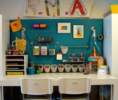 Habitaciones infantiles, rincones de manualidades