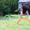 5 juegos infantiles con churros de piscina