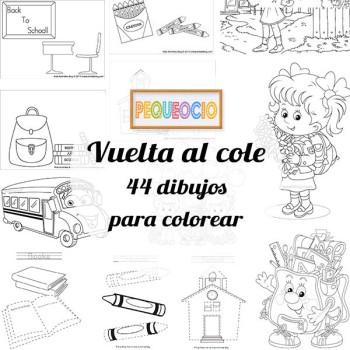 44 dibujos para colorear ¡vuelta al cole!