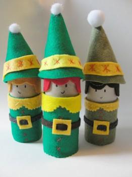 Manualidades de Navidad con rollos de papel