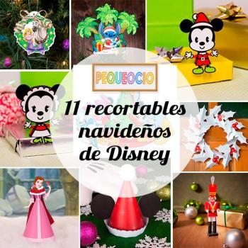 Manualidades de Navidad, 11 recortables Disney