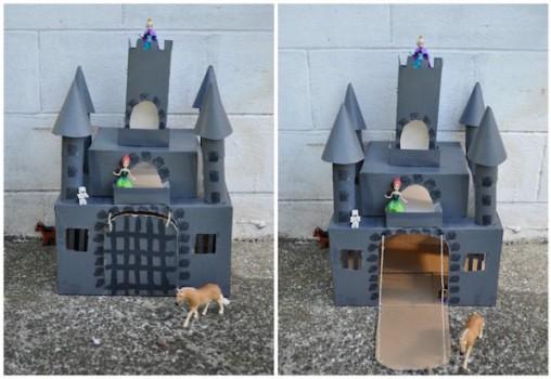 Cómo hacer 4 castillos de cartón para jugar