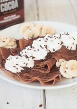 Cómo hacer crepes ¡de chocolate!