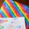 Cómo hacer un arco iris con ceras