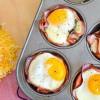 Cenas rápidas: tacitas de jamón, huevo y queso