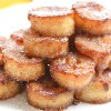 Plátanos caramelizados con canela