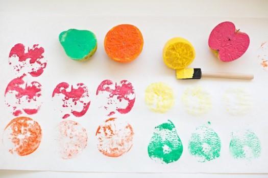 Cómo hacer sellos con frutas