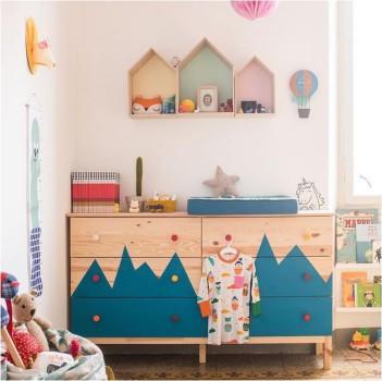 Muebles infantiles, 5 cajoneras personalizadas