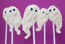 Piruletas fantasma para Halloween