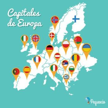 Capitales de Europa. Lista de países europeos y sus capitales