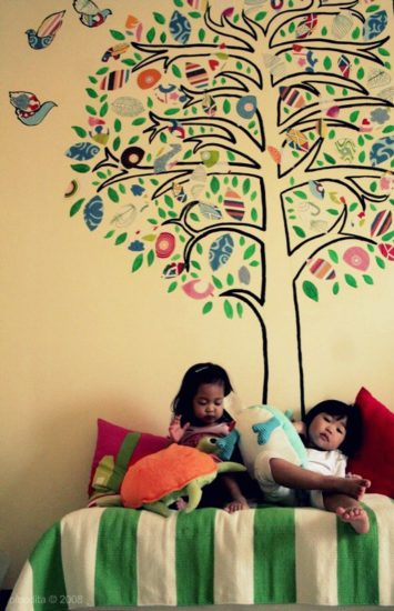C mo hacer un mural de pared infantil pequeocio - Mural pared infantil ...