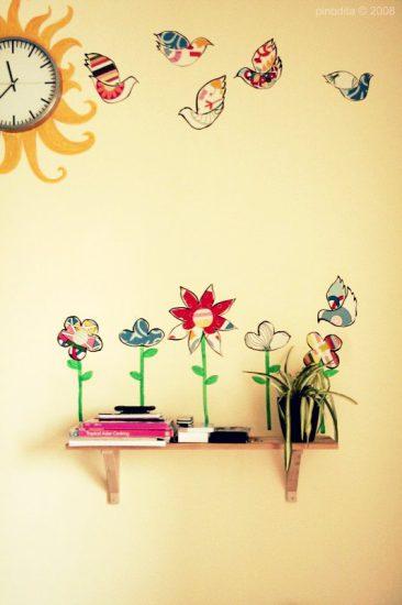 decoración de pared. manualidades niños. mural de pared