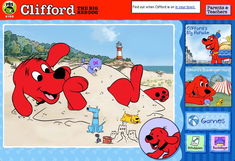 juegos clifford, el gran perro rojo