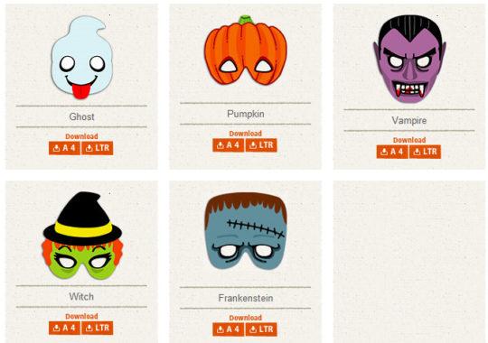 Máscaras gratis de Halloween 2