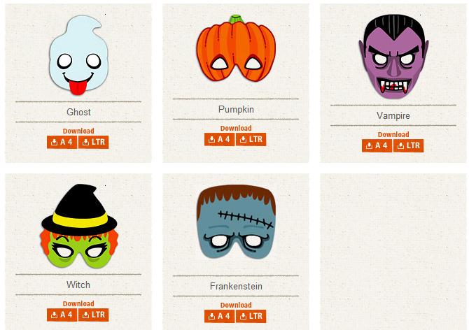Mascaras Gratis De Halloween Pequeocio