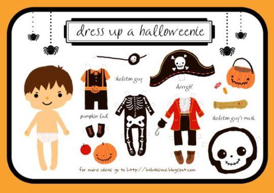 recortables muñecos halloween