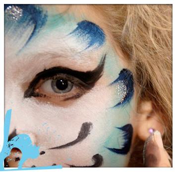 Maquillaje infantil paso a paso gato pequeocio - Pinturas de cara para ninos ...