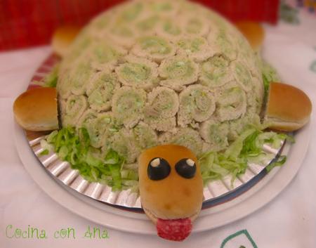 tortuga rellena para fiestas