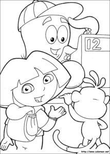 Dibujos para colorear de Dora la Exploradora 3