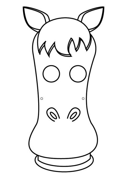 Mascara de caballo en foami - Imagui