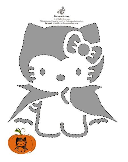 Calabazas de halloween dec ralas con hello kitty - Calabazas halloween originales para ninos ...
