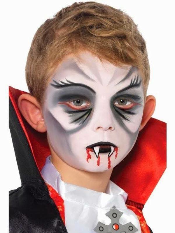 como hacer maquillaje de vampiro para niños