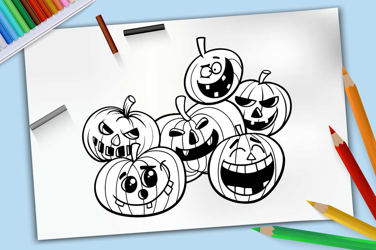 Dibujos para colorear de calabazas de Halloween