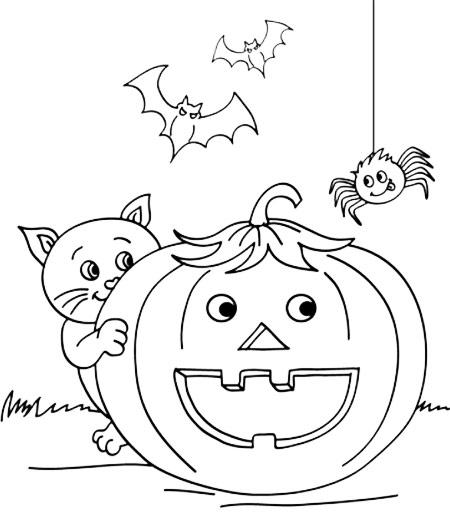 Dibujos calabaza Halloween