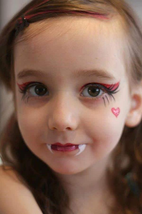 maquillaje vampira niña