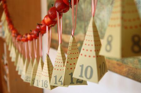 calendario adviento carton