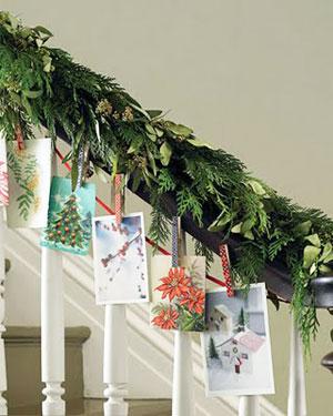 Tarjetas Navidad escalera