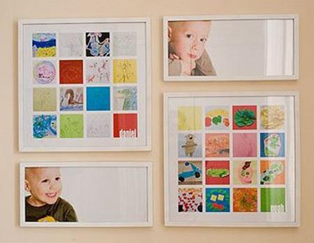 Enmarcar los dibujos de tus hijos pequeocio - Enmarcar lienzo ...