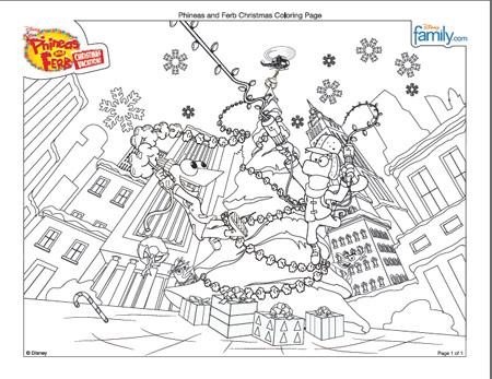 Dibujos para colorear de Phineas y Ferb